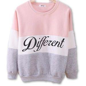 """Pale Pink """"Different"""" Sweatshirt // S"""